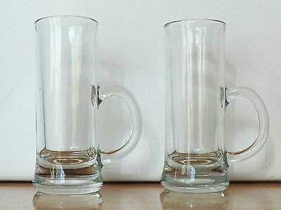 Excellent Barware Two Clear Glass Little Shot Mugs That Hold 2 Ounces Liquid