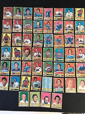 1972-73 O-Pee-Chee Wha Hockey Complete Set 290-341 Ex/Nm W/Unmarked Checklist