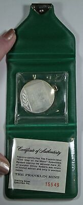 1969 Apollo 11 Space Travel silver coin FIRST STEP ON MOON
