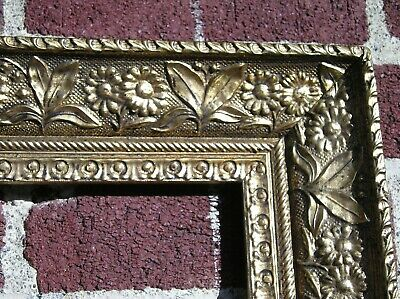 Unique Antique Aesthetic Victorian Floral and Leaf Gold Picture Frame 16 x 20