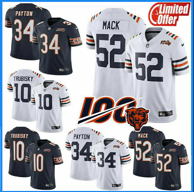 New Mens Chicago Bears #52 Khalil Mack 100th Season Stitched Limited Jersey 2019