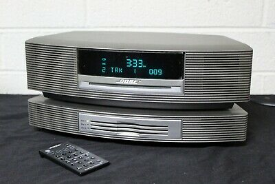 Bose Wave III Music System CD Player 3 Disc Changer Titanium Silver W/Remote