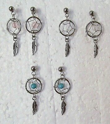 """Dream Catcher Small 1"""" with Feather Stud Earrings"""