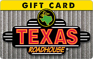 Texas Roadhouse Gift Card--$50 Value + Only $41 = Save 18% + Free Shipping