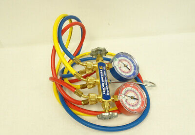 Yellow Jacket Refrigeration Manifold with Hoses, R-22 / 404a / 410a 11/B4963B