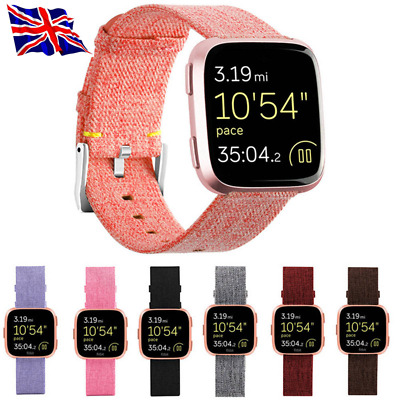 Woven Fabric Wrist Watch Band Strap Watchband For Fitbit Versa Best Excellent #
