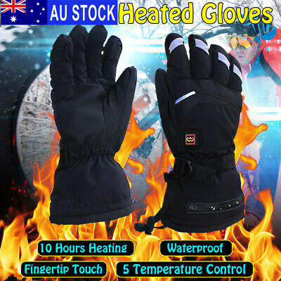 5 Level 3600mAh Warm Touchscreen Waterproof Electric Heated Gloves Hand Thermal