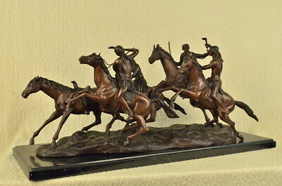 OLD DRAGOONS American Bronze Handmade Sculpture Frederic Remington Extra Large