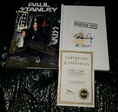 Paul Stanley Hand Signed Backstage Pass 2019 Hardcover Book Premiere Coa New