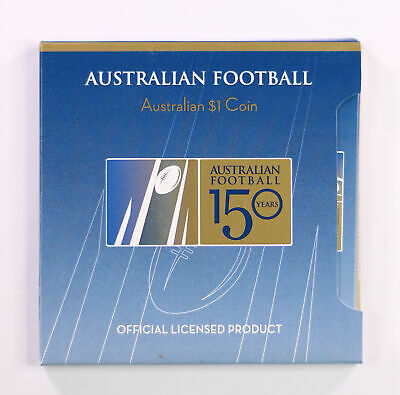 2008 Perth Mint Aust $1 One Dollar 150 Years of Football UNC Carded Coin D7-1614