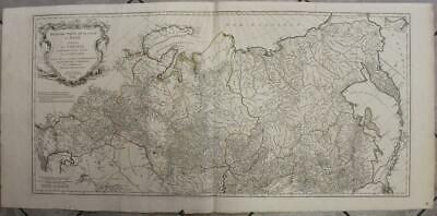 Russia Japan Tartary 1753 D'anville Wall Two Sheets Antique Copper Engraved Map