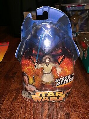 Hasbro Star Wars: Revenge of the Sith Obi-Wan Kenobi Slashing Attack Figure NEW