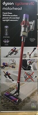 Dyson V10 Cyclone Motorhead Red Cordless Stick Vacuum Cleaner