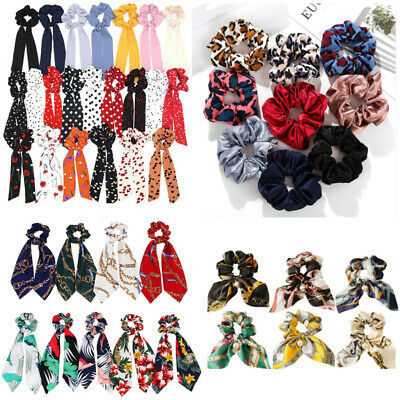 Boho Flower Hair Scrunchie Ponytail Holder Hair Ties Rope Elastic Hair Band HOT