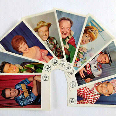 1960s HSV Channel 7 Melbourne LOT OF 8 PROMOTIONAL FAN CARDS