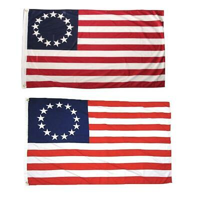 3x5 FT POLYESTER US AMERICAN BETSY ROSS 13 STAR USA HISTORIC FLAG 4th of JULY 88