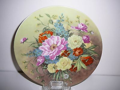 Ornamental Display Plate Flowers Floral Pretty Collectable