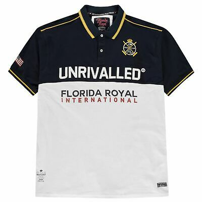 D555 Suffolk Polo Shirt Mens Navy/White Collared Top Tee XX-Large