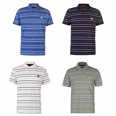Pierre Cardin Stripe 3 Polo Shirt Mens Collared Top Tee Navy X-Large