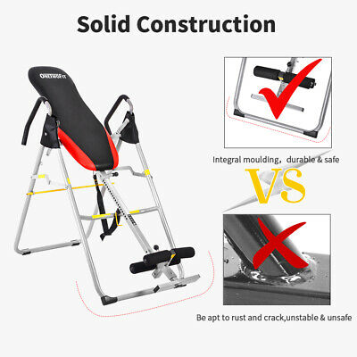OTF79 EXERCISE INVERSION TABLE INVERT new EXERCISE BENCH REDUCE BACK/NECK PAIN