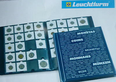 LIGHTHOUSE DARK BLUE COIN ALBUM 10 PAGES Holds 200 2 x 2 HOLDERS