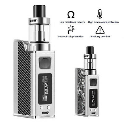 150W LED Electronic Cigarettes Vape Vaporizer Starter Kit Tank Battery AU