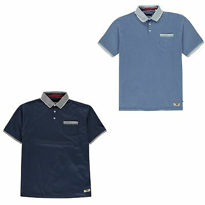 D555 George Polo Shirt Mens Collared Top Tee Sky Blue Marl XX-Large