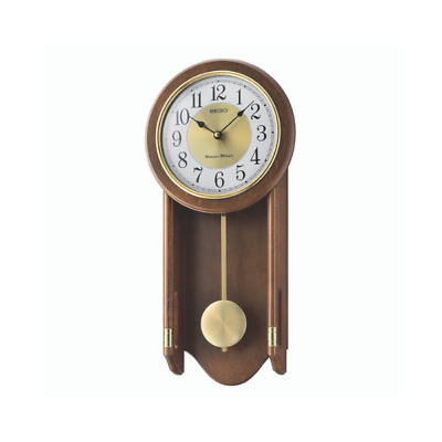 Seiko Westminster Whittington Dual Chime Wall Clock With Pendulam - Dark Brown