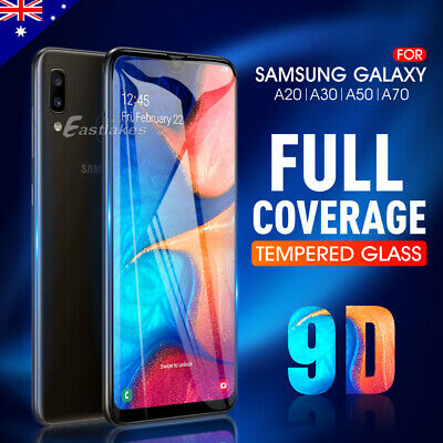 Samsung Galaxy A8 J8 A20 A30 A50 A70 Tempered Glass Screen Protector Film Guard