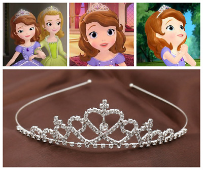 Shiny Rhinestone Hollow Princess Crown Headwear Tiara Girl Kids Hair Accessory