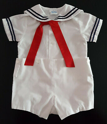 SAILOR SUIT, VINTAGE 1970's BABY, TODDLER BOY'S / REBORN DOLL, SIZE 2T
