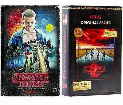 New Stranger Things Season 1 Blu Ray Dvd Target Exclusive Vhs Packing + Stickers