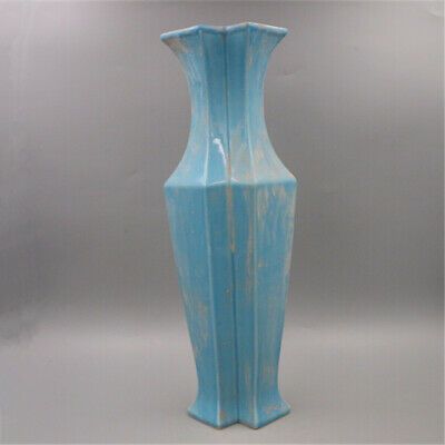 Chinese ancient antique hand make Blue glaze VASE AA111