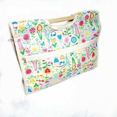 Sale Hobbygift Classic Sewing Knitting Craft Bag Hobby Abstract Floral Flower