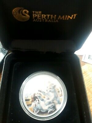 Tuvalu 2015 Royal Perth Mint Cubs White Lion 1/2 oz Silver Proof Coin