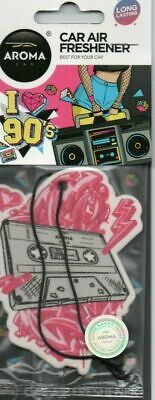 Aroma - Car Air Freshener - I Love 90'S - Tape    *New And Sealed*