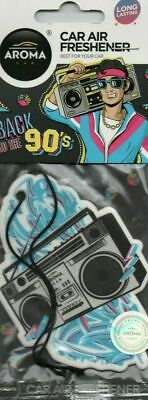 Aroma - Car Air Freshener - Back To The 90'S - Boom Box    *New And Sealed*