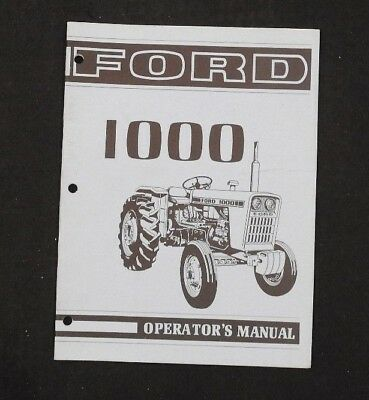 Genuine 1973 Ford 1000 Tractor Owner Operators Manual Very Nice Book Minty
