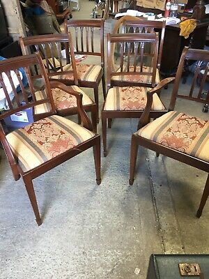 Set 6  Dining Kitchen Chairs Inc 2 Carvers   15/7/N