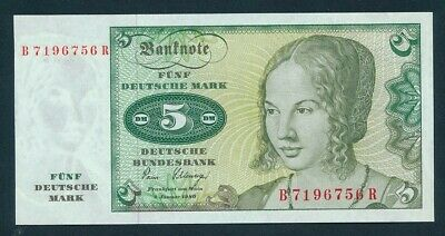 Germany: Federal Republic 1-1-1980 5 Mark. Pick 30b UNC Lt handling Cat $16