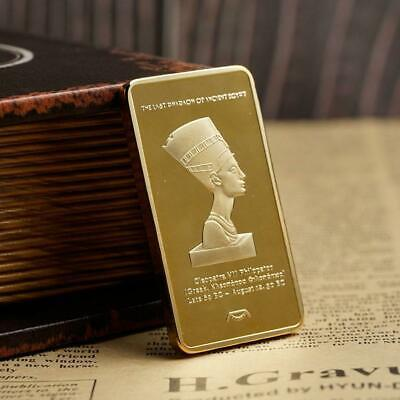 Egyptian Pharaoh Commemorative Coin Gold Bullion Collections Crafts Decor U9Z6