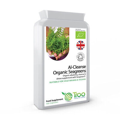Detox & Cleanse Organic Seagreens® 100 Capsules Weight & Toxin Loss Alkaline NEW
