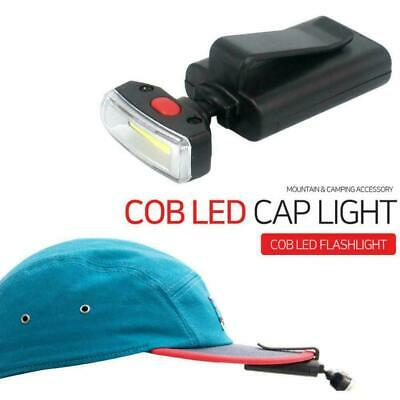 LED Clip-on Cap Hat Head Light Torches Camping Hiking Fishing Headlamp Head N5A2