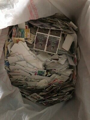 Massive 4.6 Lbs Japan Stamps Off Paper Collection Lot MXE