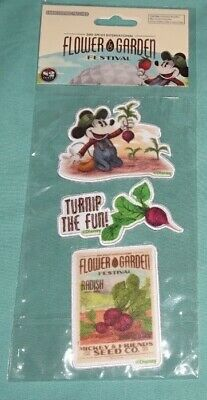 Disney Parks  Mickey Epcot Flower Garden Festival 2019 Embroidered Patches. NEW.