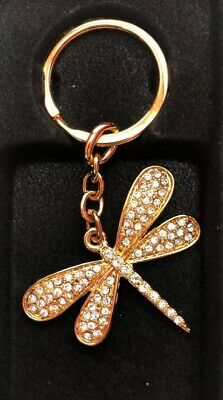 Gold Dragonfly Keyring! Perfect For A Gift Or To Treat Yourself!
