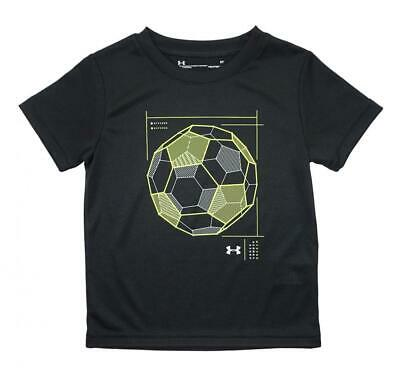 Under Armour Toddler Boys Black & Hi Yellow S/S Dry Fit Soccer Top Size 2T