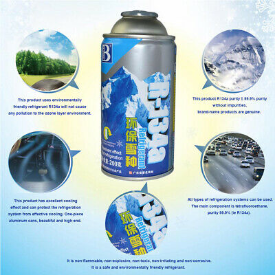 R134A Air Conditioning Vehicle Automotive Refrigerant Air Con Gas 200g Iron Can