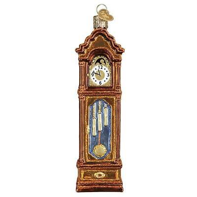 Grandfather Clock Old World Christmas Glass Time Piece Ornament Nwt 32382