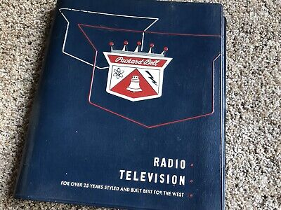 1950's Packard Bell Tube Television Radio Service Manual All Models Rare Issue